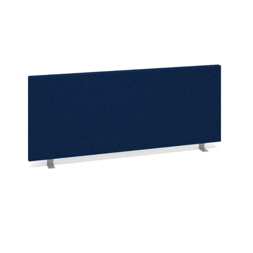 Straight desktop fabric screen 1000mm x 400mm - blue