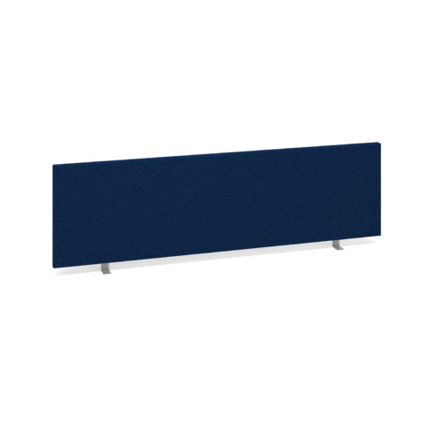 Straight desktop fabric screen 1400mm x 400mm - blue