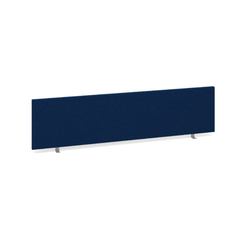 Straight desktop fabric screen 1600mm x 400mm - blue
