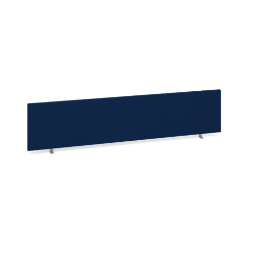 Straight desktop fabric screen 1800mm x 400mm - blue