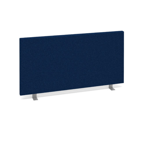 Straight desktop fabric screen 800mm x 400mm - blue