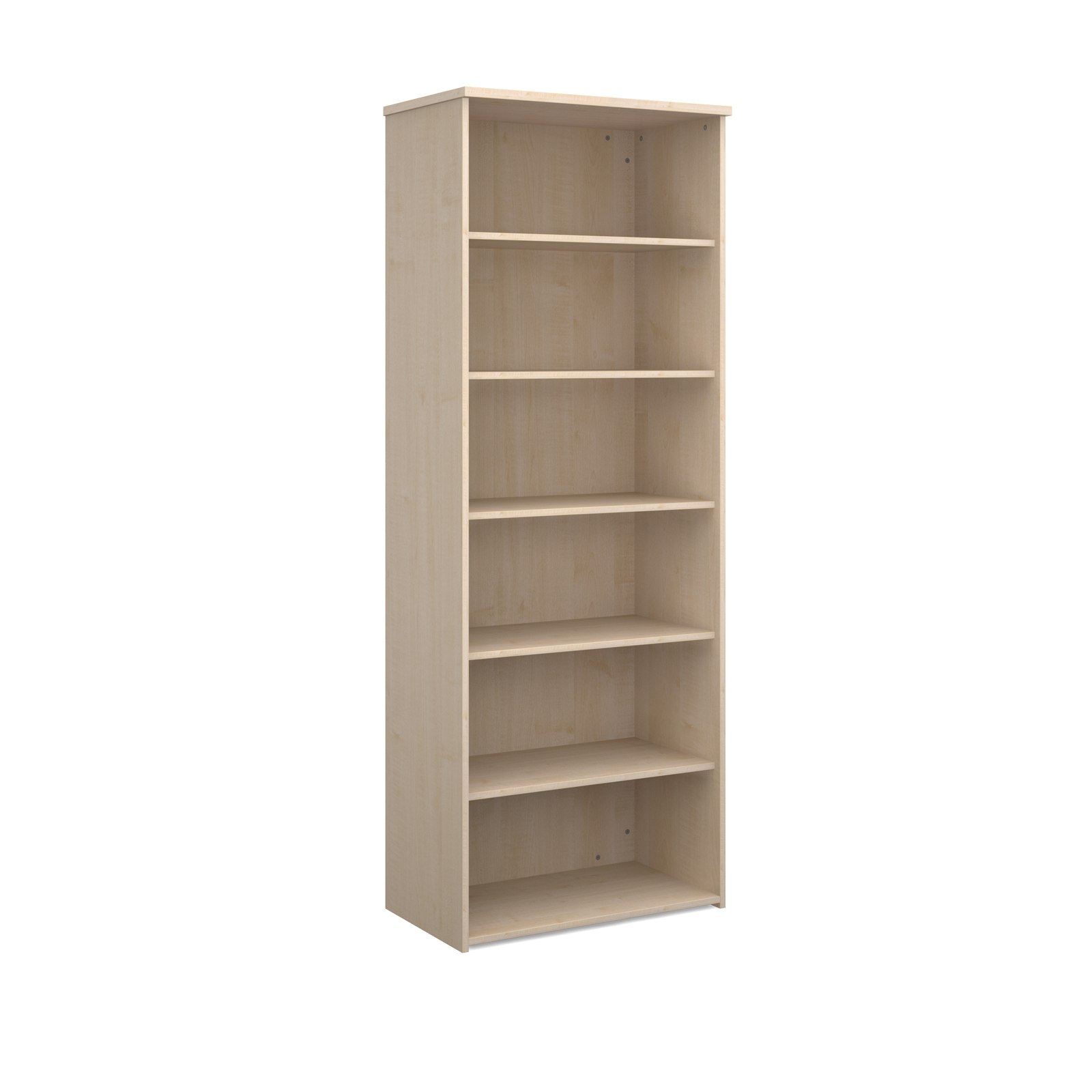 Universal Bookcase 2140mm High With 4 Shelves Maple