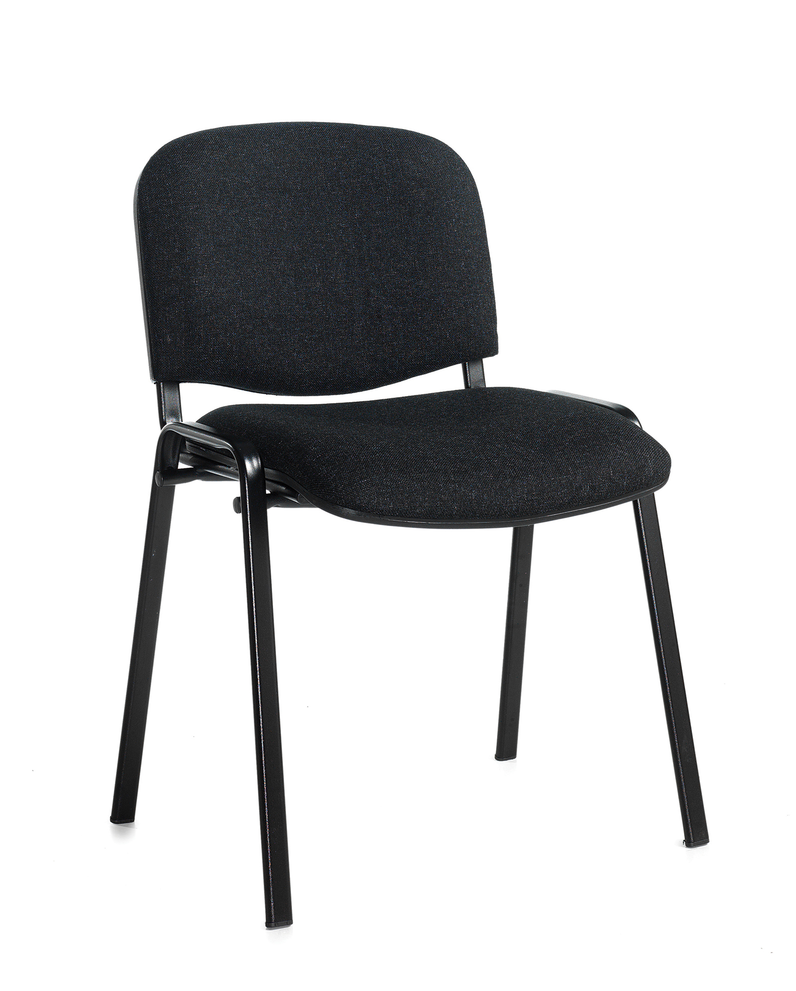 Taurus Meeting Room Stackable Chair With Black Frame And No Arms Charcoal